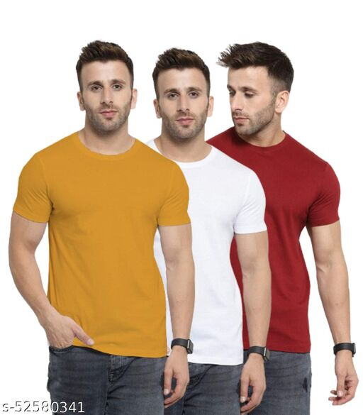 YouthPoi Solid Plain T-shirt for Men #RainbowSeries