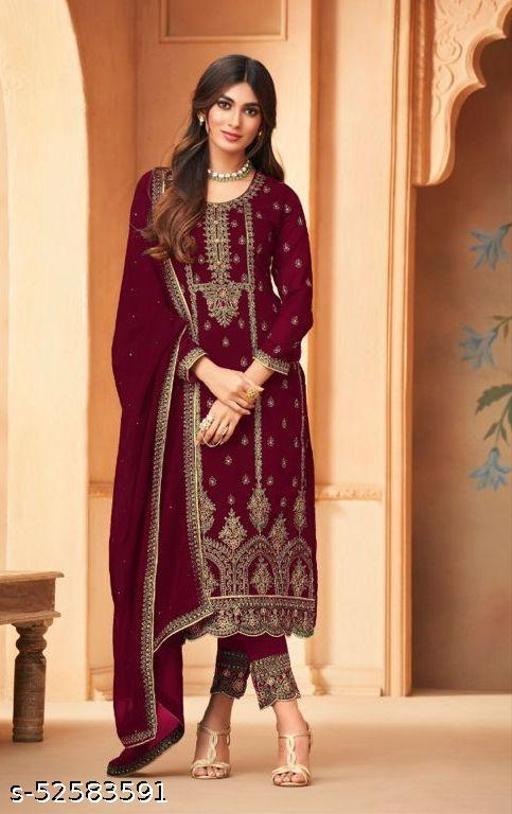 Aagam Superior Semi-Stitched Suits
