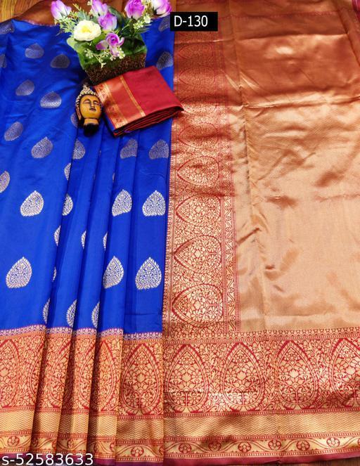 Ethnic studio presents royal blue pure Rapier weaving soft silk Sarees ,Classic musturd silk saree with brocade broad border