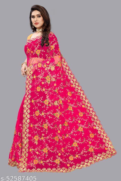 Bollywood designer sabyasachi collection saree For women - GAJRI(DARK PINK)