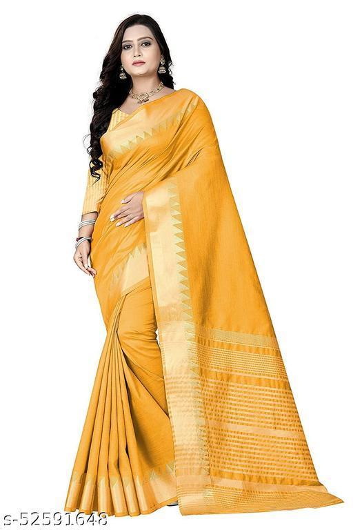 Women's Ethnic Woven Assam Silk Saree with Blouse Piece