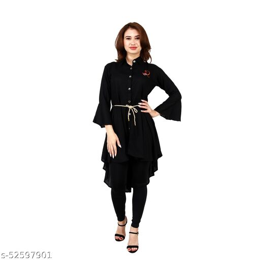 SAINATH TRADERS BLACK HIGH LOW DRESS