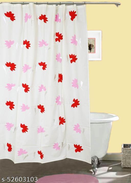 "CASA-NEST Brush Printing Design Waterproof Shower Curtain for Bathroom, 7 Feet PVC Curtain with 8 Hooks – 54""x 84"", Multicolour-2"