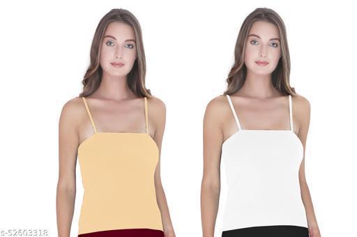 BODIBELLE Women's Cotton Adjustable Strap Libra Camisole Pack of 2