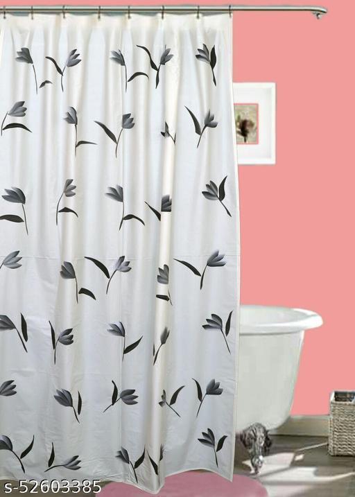 "CASA-NEST Brush Printing Design Waterproof Shower Curtain for Bathroom, 7 Feet PVC Curtain with 8 Hooks – 54""x 84"", Multicolour-7"