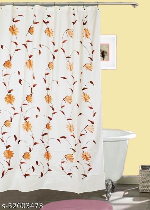 "CASA-NEST Brush Printing Design Waterproof Shower Curtain for Bathroom, 7 Feet PVC Curtain with 8 Hooks – 54""x 84"", Multicolour-4"