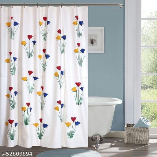 "CASA-NEST Brush Printing Design Waterproof Shower Curtain for Bathroom, 7 Feet PVC Curtain with 8 Hooks – 54""x 84"", Multicolour-8"