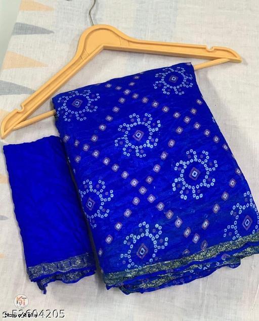 Bharats Sales Silk Bandhej Saree/ Bandhani Saree