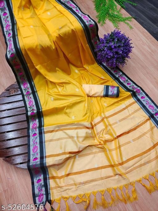 Soft Cotton Silk Irkal Paithani Saree with Blouse