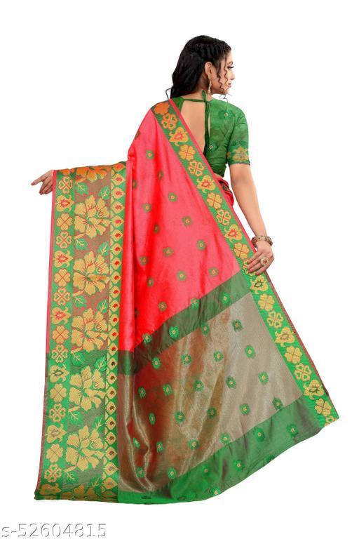PRIME ZONE Aura checks cotton saree with running blouse