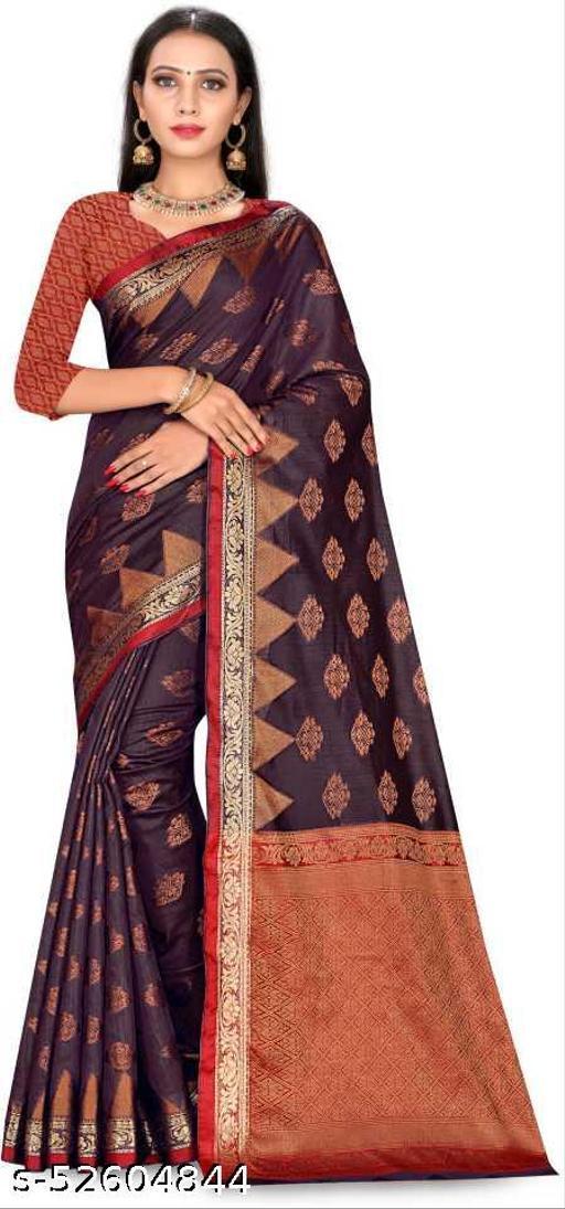 Woven Banarasi Cotton Blend Saree