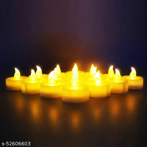 Battery Operated LED Candle Tealight Diya Decorative Lights for Home Wall Lighting Decoration Set of 12 diwali lighting