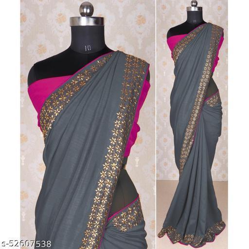 Beautiful Diamond Work Silk Saree