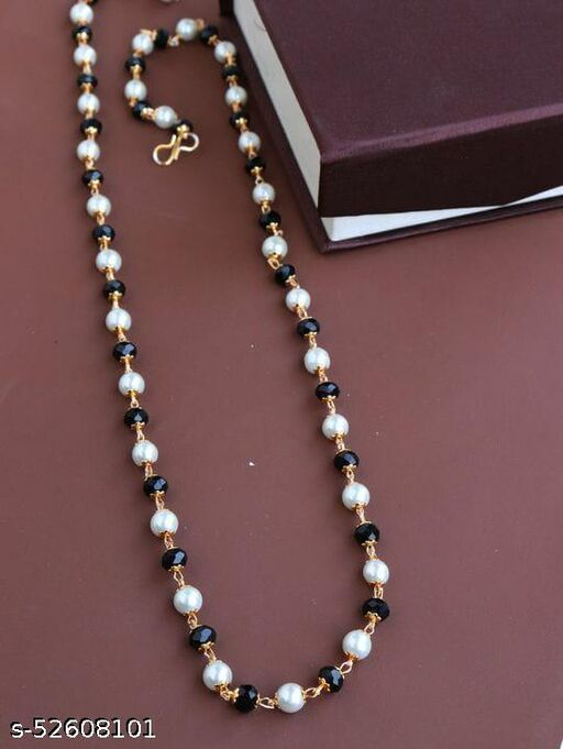 Gold Plated Alloy Base Metal Chain Mala Necklace