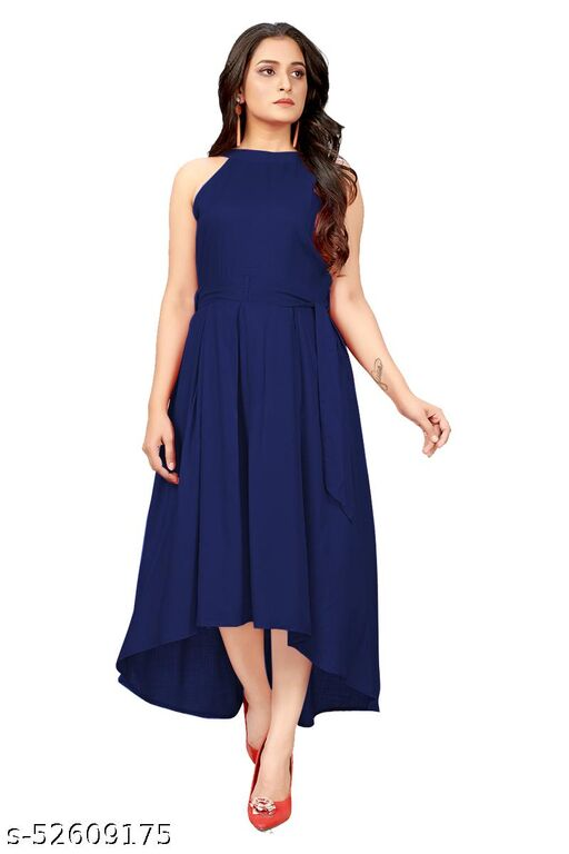 Manshav Women's Fit And Flare Fancy Western Cotton Up &Down Dress