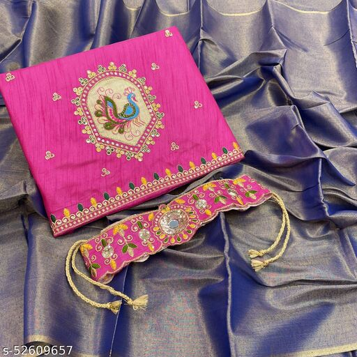Navratri special multicolour beautiful saree with peacock designer blouse and BELT