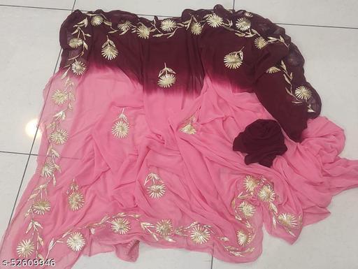 Hand work saree