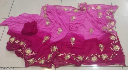 2 Dye Gota Saree