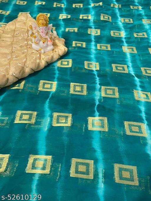 Pure Soft Jacquard saree in lehariya Patter