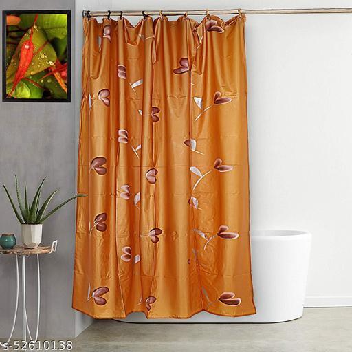 "CASA-NEST Brush Printing Design Waterproof Shower Curtain for Bathroom, 7 Feet PVC Curtain with 8 Hooks – 54""x 84"", Multicolour-10"