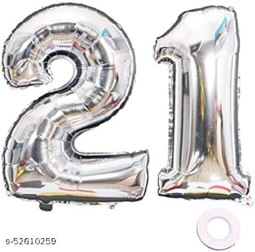 21 Balloons Large Foil Mylar Balloons 40 Inch Giant Jumbo Number Balloons for Birthday Party Decorations