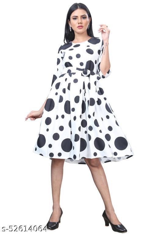 Manshav Women's Fit AndFlare Fancy Western Cotton Dress