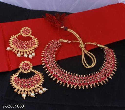 Pear Kundan Choker Necklace