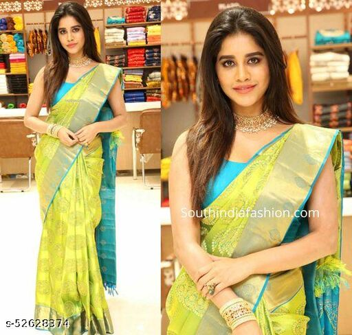 Manjula Banarasi Lichi  Silk Saree
