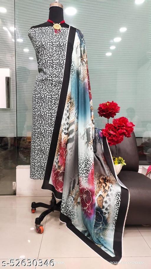 Tiger Print Designer Suit Dupatta