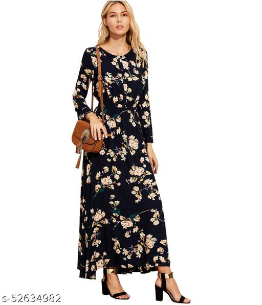 DIP Women's Fit And Flare Fancy Western Cotton Dress