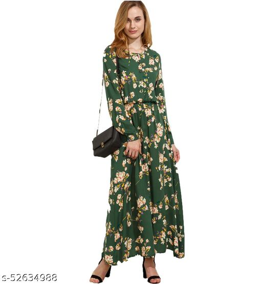 DIP Women's Fit And Flare Fancy western Cotton Floral Print Dress