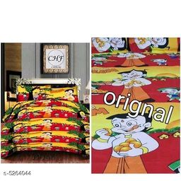 Trendy Polycotton 90x90 Double Bedsheet