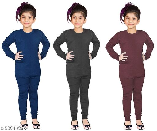 Unique Comfy Kids Girls Thermals