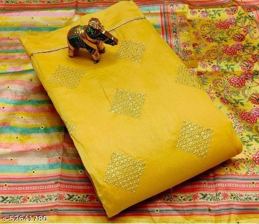 Moddal silk self work top with lining*