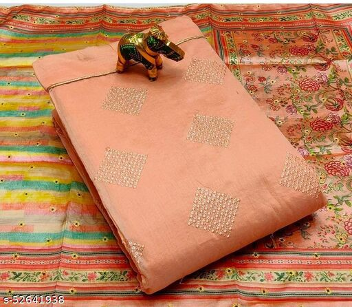 Moddal silk self work top with lining*  suit
