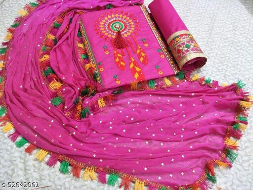 Exclusive Dress Material Suit  For Women  (navratri special)