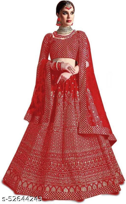 Designer fancy embroidered lehenga choli with blous & duptaa