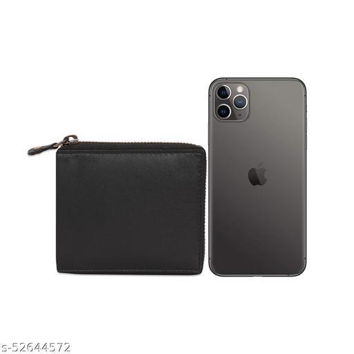 Mens leather Black RFID wallet