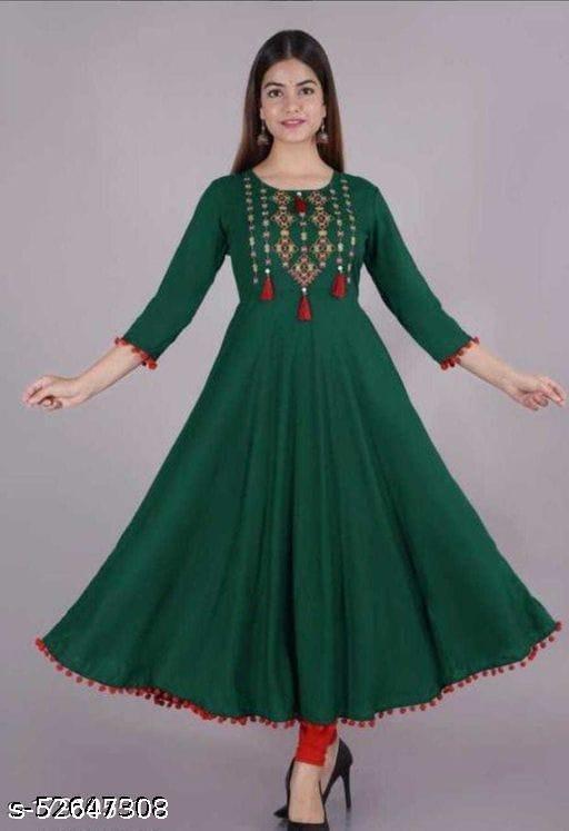 Aagam beautiful Anarkali embroidery kurtis