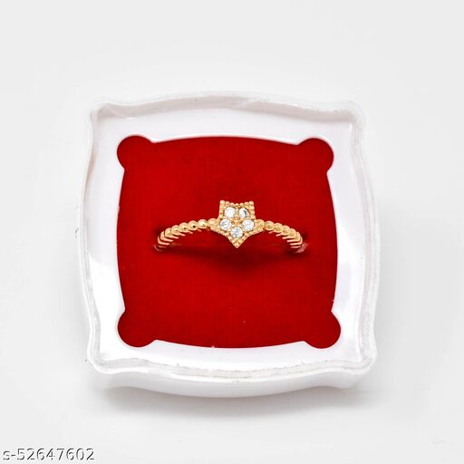 AD/CZ Guarantee Polish Rose Gold Ring Adjustable