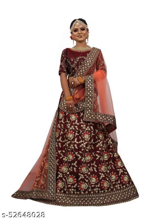 Attractive embroidered lehenga choli with blous & duptaa