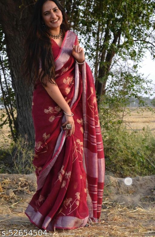 TRENDY NEW COLLECTION COTTON EMBODRIED SAREE