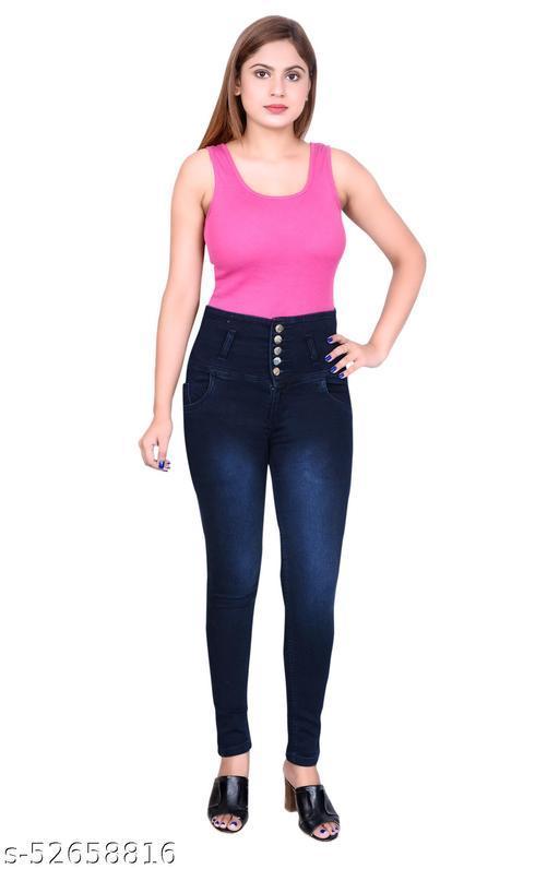 S-Marquies Women's Slim fit Strechable Denim Pant for Girl's.