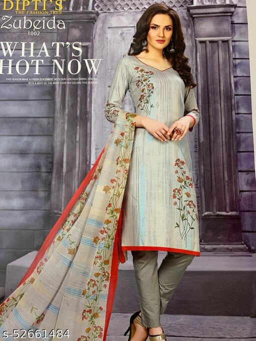 Fabulous Partywear Cotton Printed Suit And Dress material