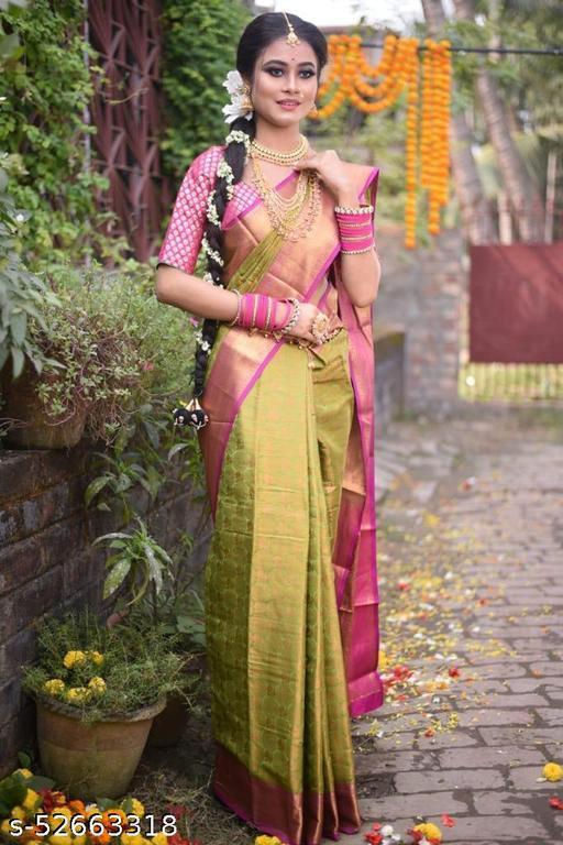Beautiful Zari Woven Banarasi Silk Saree
