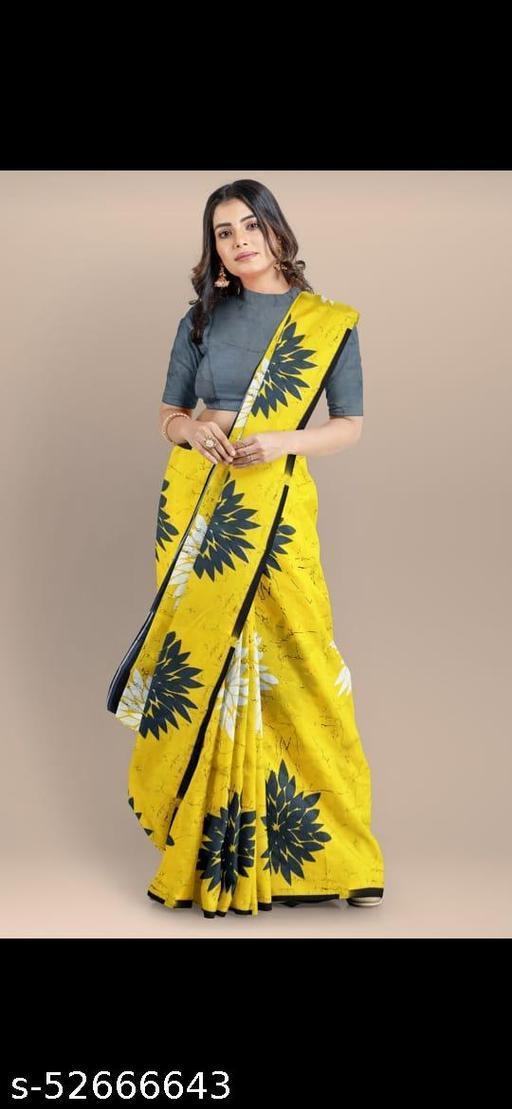 fancy jaipuri print cotton saree