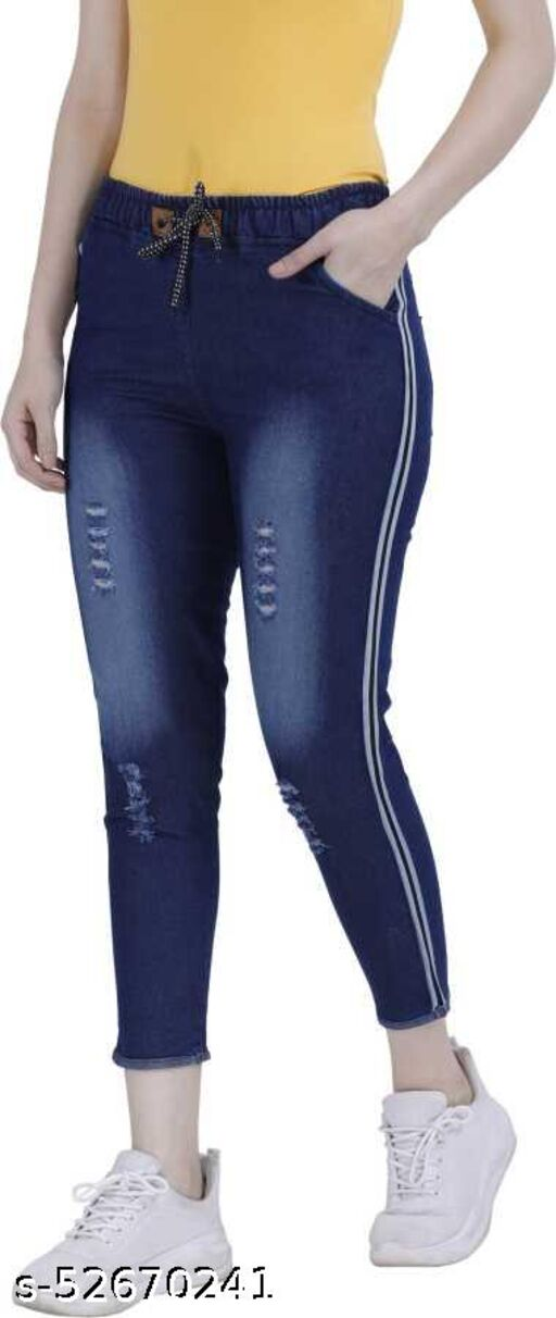 areal fashion woman joggers pians blue new look jeans