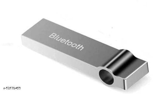 PP HUB Metal USB Wireless Music Audio Bluetooth Receiver,Dongle 4.0 USB Adapter Hands-Free Dongle Kit for Speaker Music System, Home Theater, Car Compitable with All Mobile & Laptops - Silver