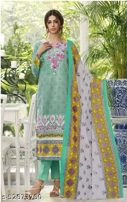 Fancy festival and wedding wear un-stitched suits