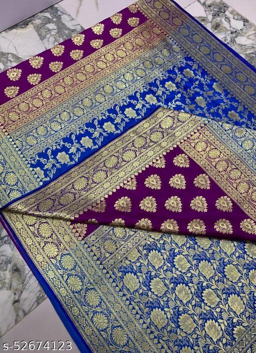 (R3Magenta) Fabulous Banarsi Partly Silk Saree Specially For Weddings